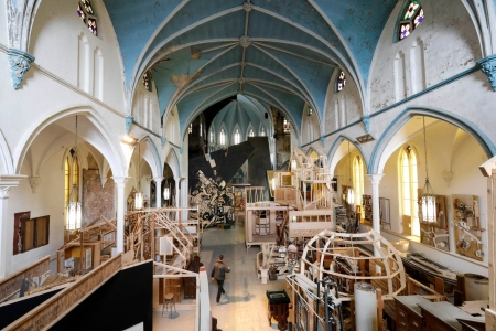 Architect and artist Dennis Maher has transformed a church built in 1870 into an art gallery, wood shop, architecture studio and home of the Society for the Advancement of Construction Related Arts, which runs education programs to teach the building trades.