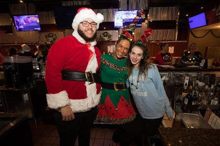 One week after Buffalo's SantaCon, Niagara Falls held its own Santa Con on Saturday, Dec. 14, 2019, with stops at the Anchor Bar, Hyatt Place, Wine on Third and Chill 443 and more. See all the Santas engaging in merriment.