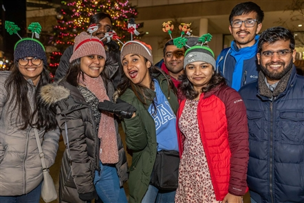 Rotary Rink at Fountain Plaza hosted its ceremonial tree lighting from 5 to 8 p.m. Saturday, Dec. 7, 2019. The event featured ice skating (of course), plus refreshments, fireworks and a visit from Santa.