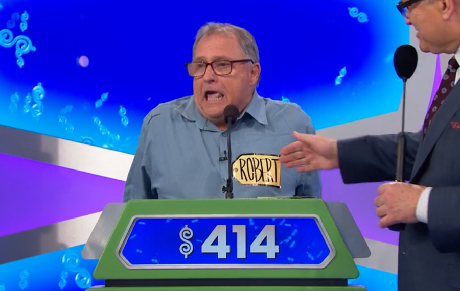 "Buffalo native Robert Zon reacts as ""The Price Is Right"" host Drew Carey tells him he won the Showcase Showdown. (Screenshot)"