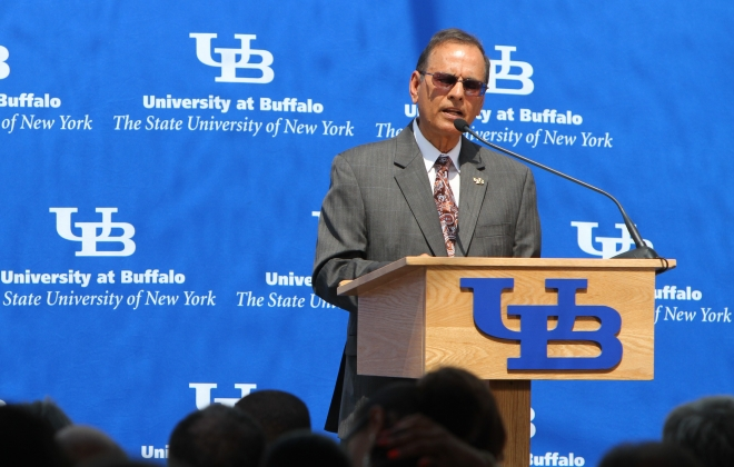 University at Buffalo President Satish K. Tripathi says a new institute tackling health disparities between blacks and whites was founded on the university's principles of social justice. (Mark Mulville/News file photo)