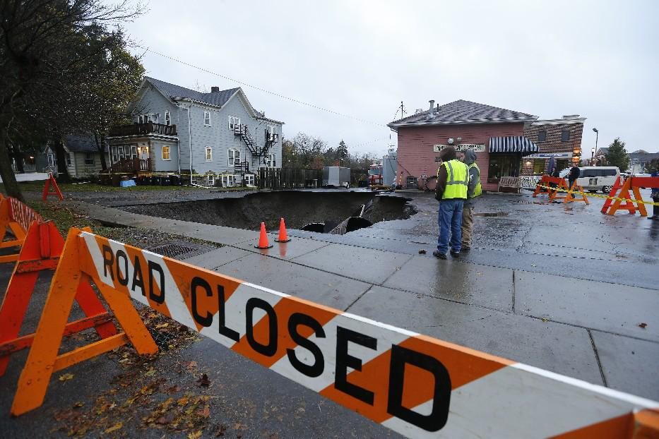 East Aurora Braces For Second Round Of Sinkhole Repairs