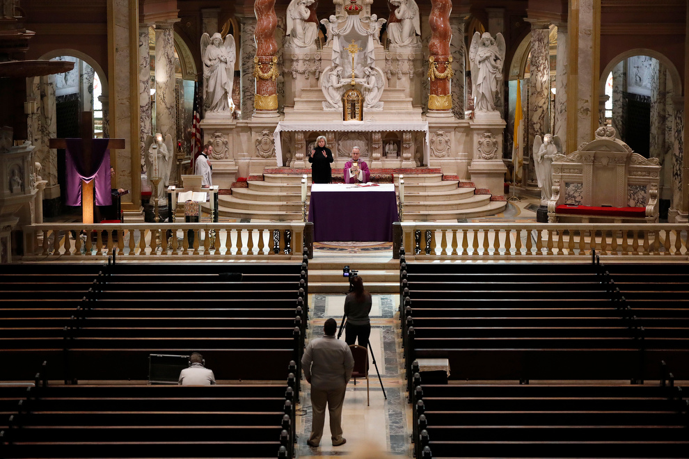 Coronavirus-Covid 19-Taping-Mass-Our Lady of Victory Basilica-Rev Mgsr David LiPuma-2020