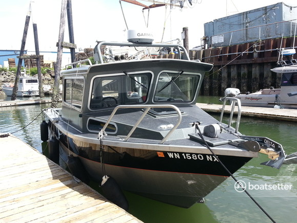 Rent a north river 24 39 seahawk w trailer in bellingham wa for Seahawk fishing boat