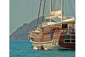 128 ft. custom made Gulet Motorsailer Boat Rental Ölüdeniz Image 1