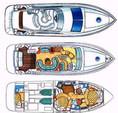 46 ft. Azimut Yachts 46 Flybridge Boat Rental Miami Image 16