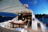 "75 ft. Lazzara Marine 75'4"" E Cruiser Boat Rental Miami Image 8"