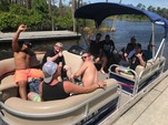 20 ft. Sun Tracker by Tracker Marine Party Barge 18 DLX w/60ELPT 4-S Pontoon Boat Rental Orlando-Lakeland Image 7