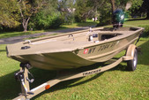16 ft. Tracker by Tracker Marine Grizzly 1548 MVX Sportsman w/25ELH 4-S  Aluminum Fishing Boat Rental Rest of Northeast Image 1
