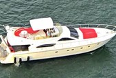 60 ft. Ferretti Flybridge Motor Yacht Boat Rental Miami Image 1