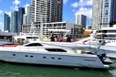 60 ft. Ferretti Flybridge Motor Yacht Boat Rental Miami Image 2