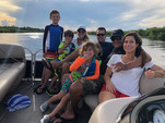 20 ft. Sun Tracker by Tracker Marine Party Barge 18 DLX w/60ELPT 4-S Pontoon Boat Rental Orlando-Lakeland Image 2
