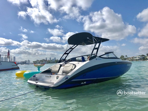 Rent a 2017 21 ft  Yamaha 212X in Miami, FL on Boatsetter