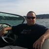 Sitting in boat