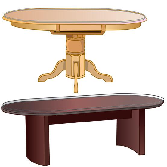 Custom Racetrack Oval Table Tops