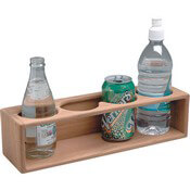 Teak Four Drink & Binocular Rack