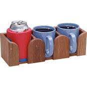 Teak Three Mug Rack