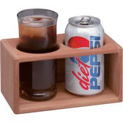 Teak Two Drink Rack