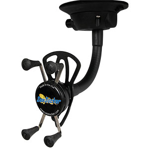 Mobile Phone Holder with SeaSucker Vacuum Mount - Horizontal Mount