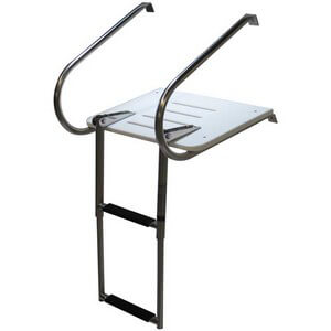 Inboard Outboard 2 Step Telescoping Swim Platform - Extended