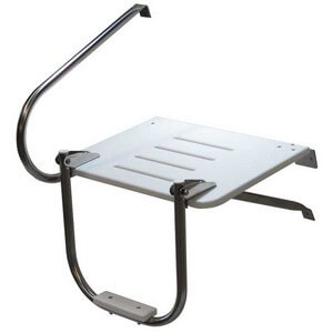 Outboard 1 Step Telescoping Swim Platform - Extended