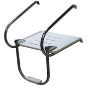 Inboard Outboard 1 Step Telescoping Swim Platform - Extended