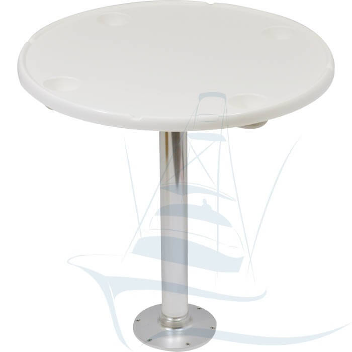 Fiberglass Console Table ~ Fiberglass round cockpit table with drink holders boat