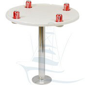 Fiberglass Round Cockpit Table with Drink Holders