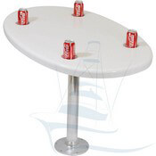 Fiberglass Oval Cockpit Table with Drink Holders