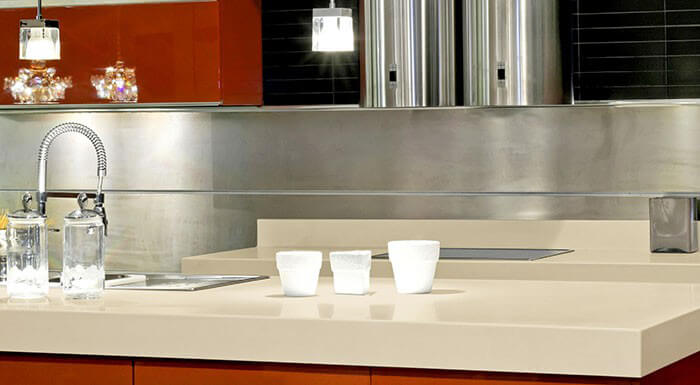... Almond Hi MACS Kitchen Countertops