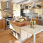 Burled Beach Corian Kitchen Countertops with Table