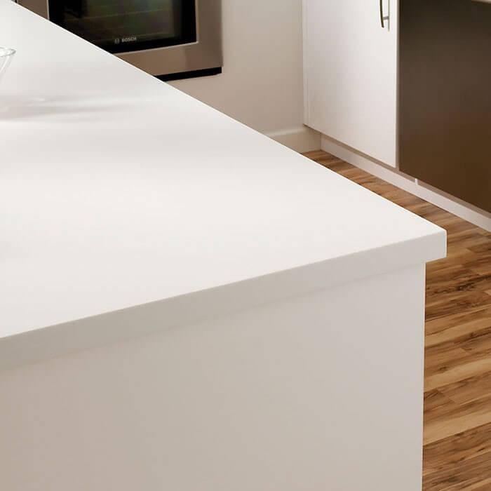 Superbe ... Designer White Detailed Close View Of Countertop