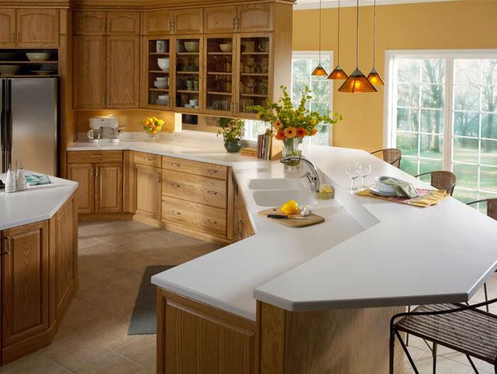 ... Glacier White Corian Kitchen Countertops ...