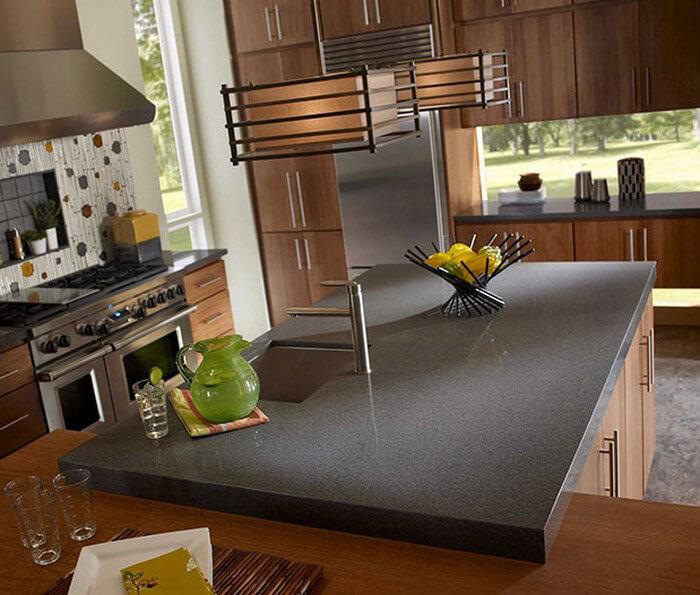 graylite corian sheet material graylite corian modern kitchen design with countertops and island