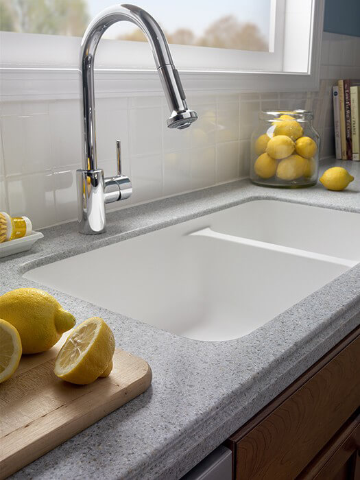 ... Merea Hi MACS Kitchen Sink With Countertops