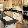 Mocha Granite Hi MACS Kitchen with Hi MACS Countertops