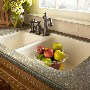 Pine Corian Kitchen Countertop with Sink