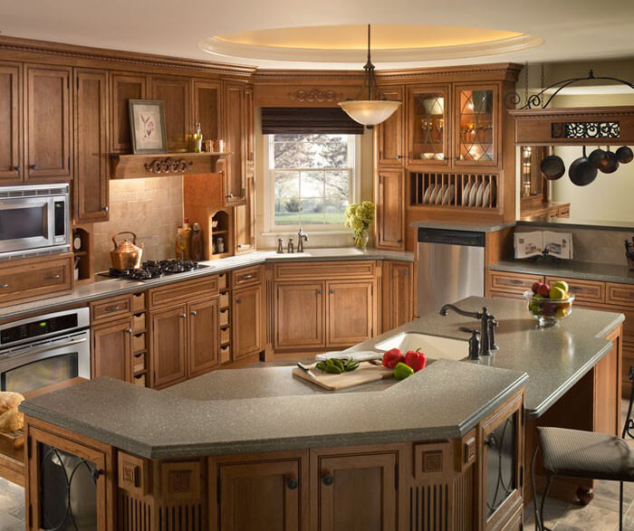 ... Pine Corian Countertops In Kitchen