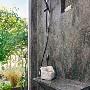 Rosemary Corian Shower Panel with Shower Seat