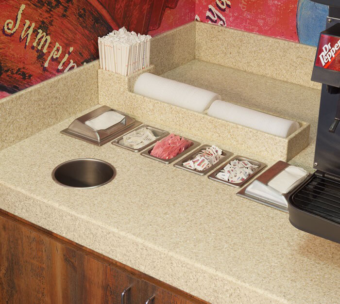 Great ... Countertop With Sink · Sahara Corian Food Services Area