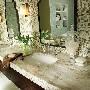 Sandalwood Corian Double Bathroom Vanity
