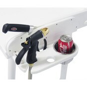 Integrated Knife Sharpener, Concealed Knife Holder, Plier, Hose, & Drink Holder