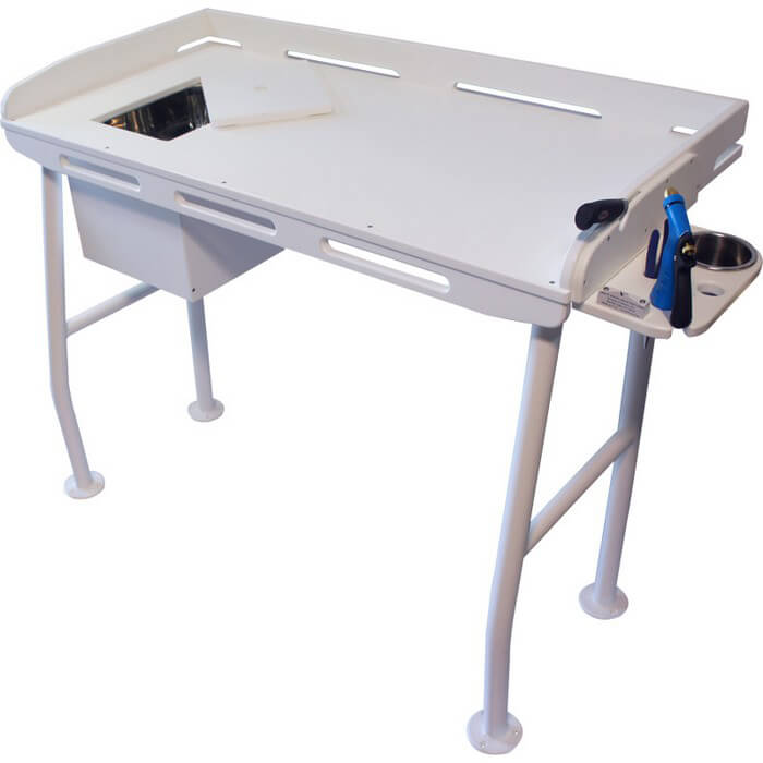 fillet table with sink 48 x 21 boat outfitters