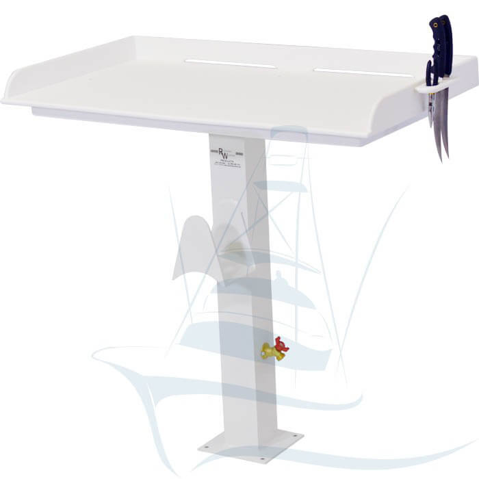 Fish cleaning table with pedestal leg fish cleaning station for Fish cleaning tables