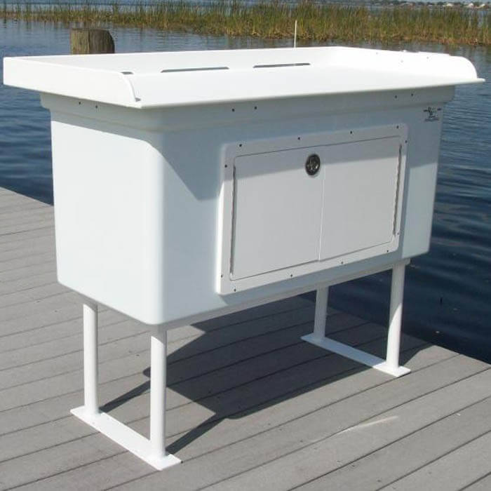 Fish Cleaning Station With Fiberglass Cabinet Fillet Table