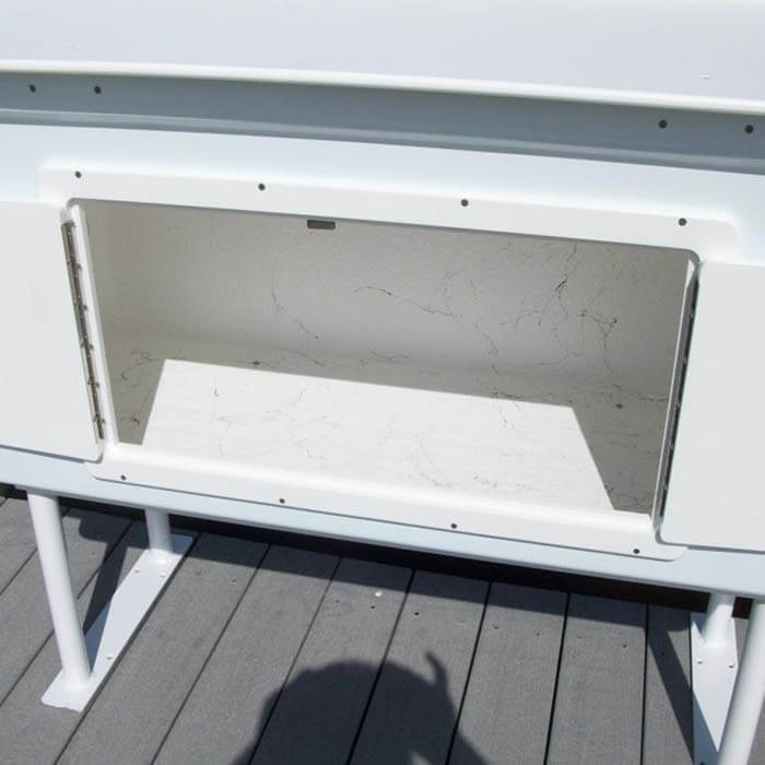 Dock boarding steps for Homemade fish cleaning table