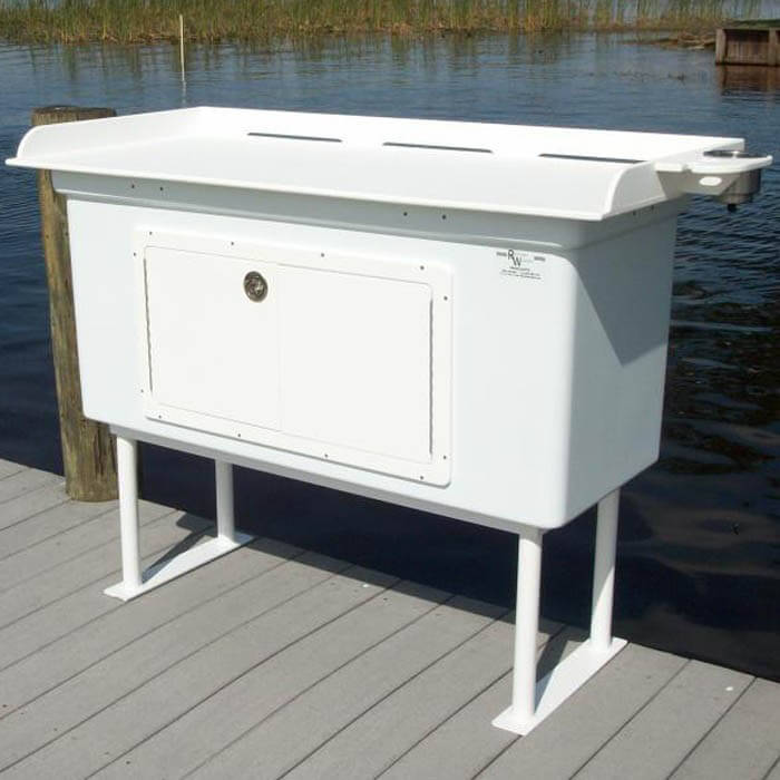 Fish cleaning station with fiberglass cabinet fillet table for Homemade fish cleaning table