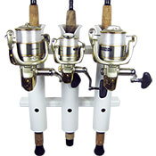 3 Rod Compact Fishing Rod Holder Rack White
