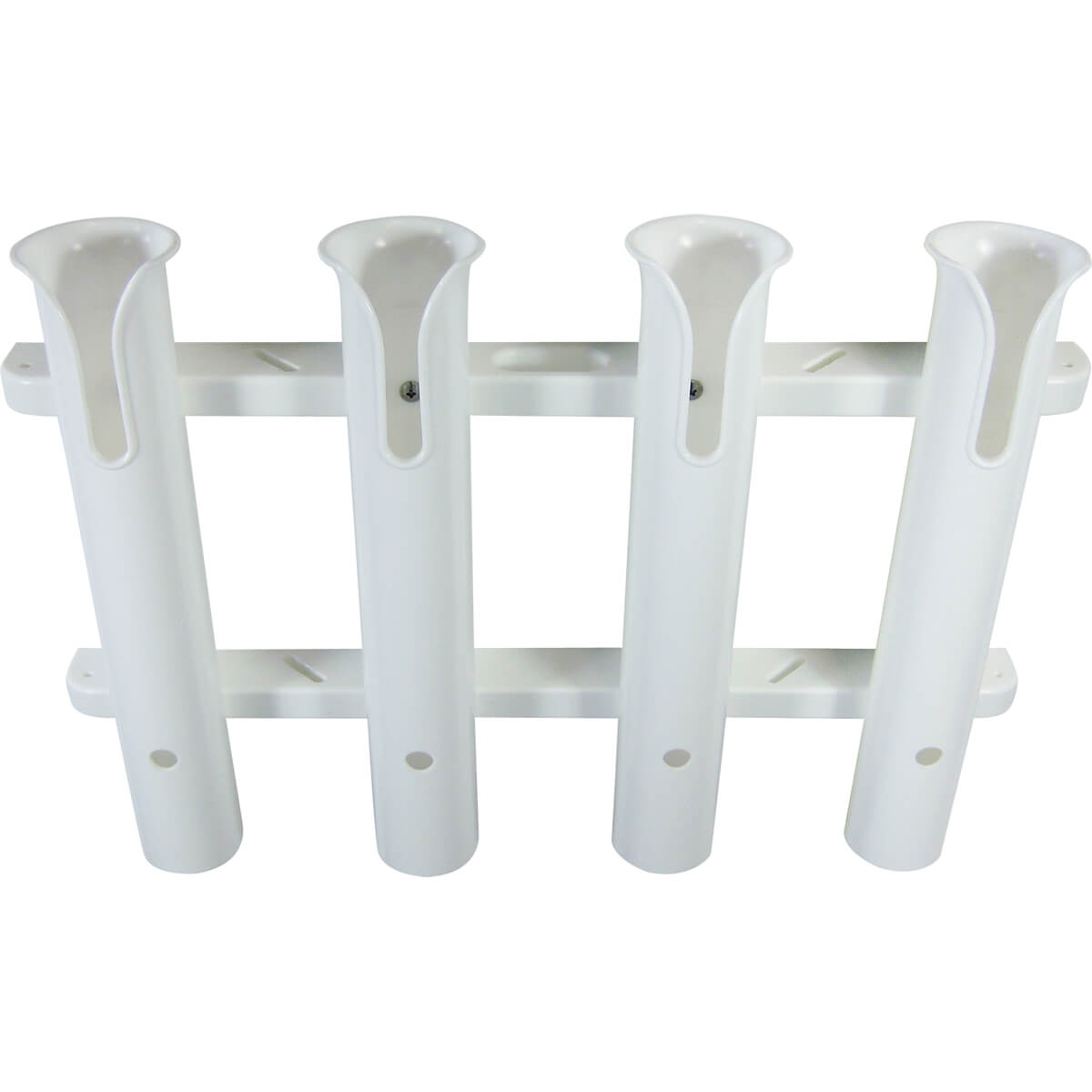 4 rod deluxe fishing rod holder rack white boat outfitters for Fish rod holders