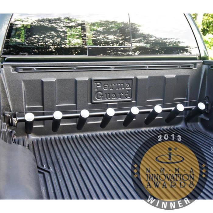 Pick up truck rod holder for toyta tundra trucks for Fishing pole holder for truck